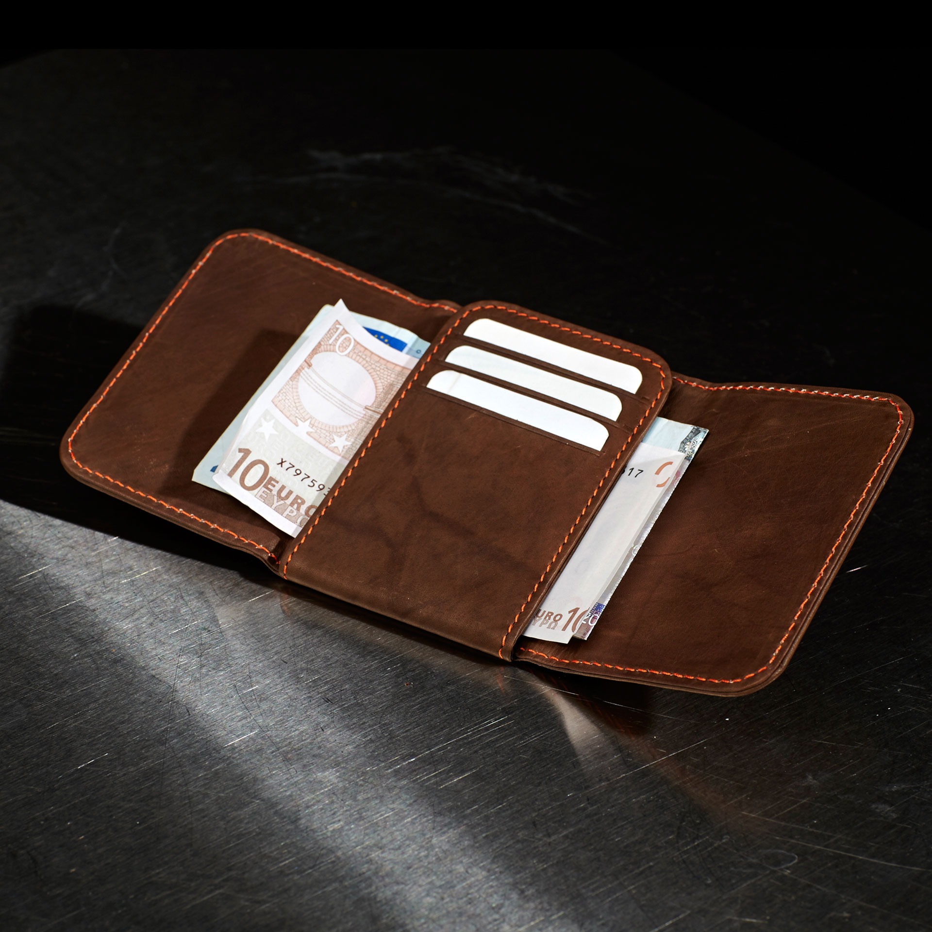 Project-papillon-brown-wallet-open