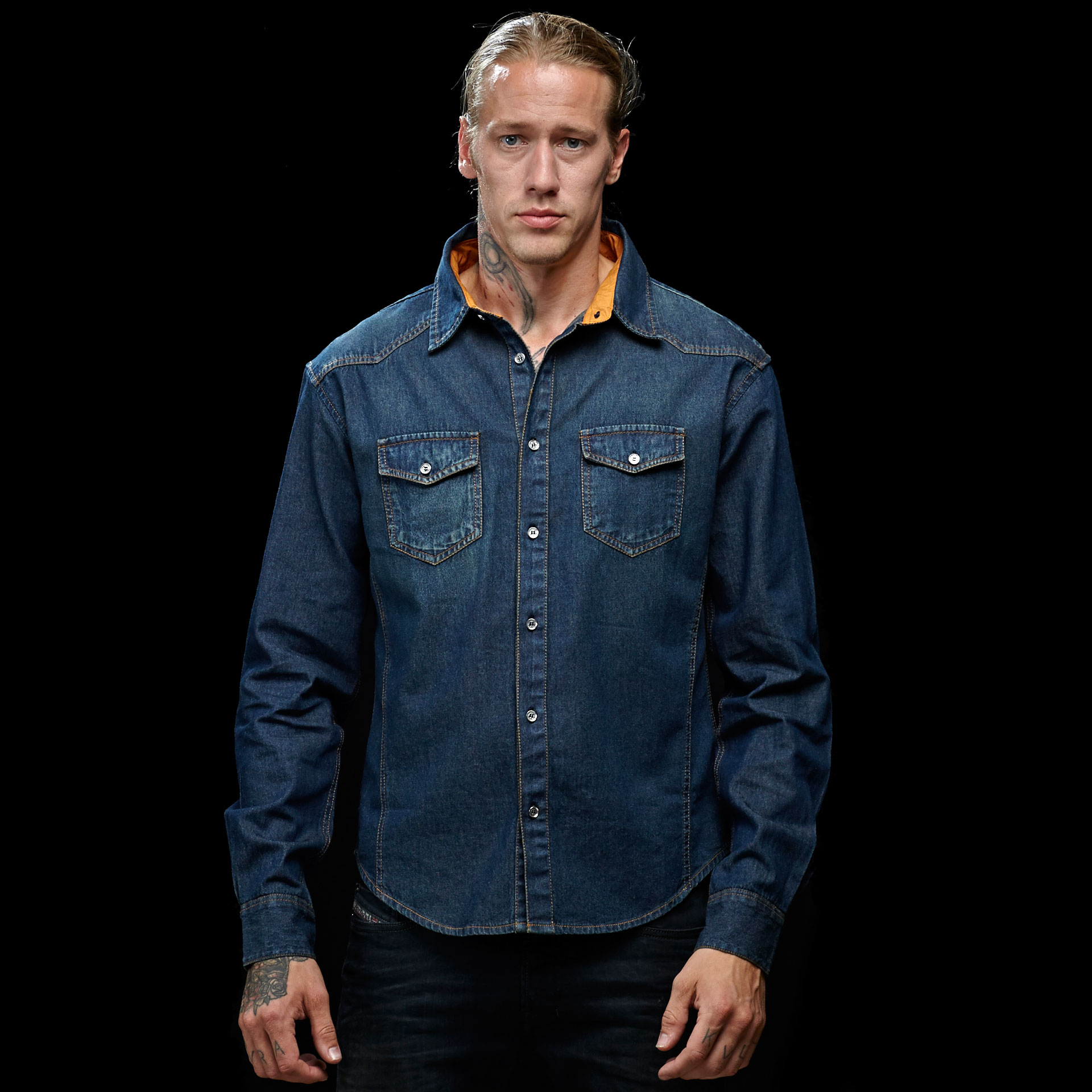 Project-papillon-classic-denim-shirt--front