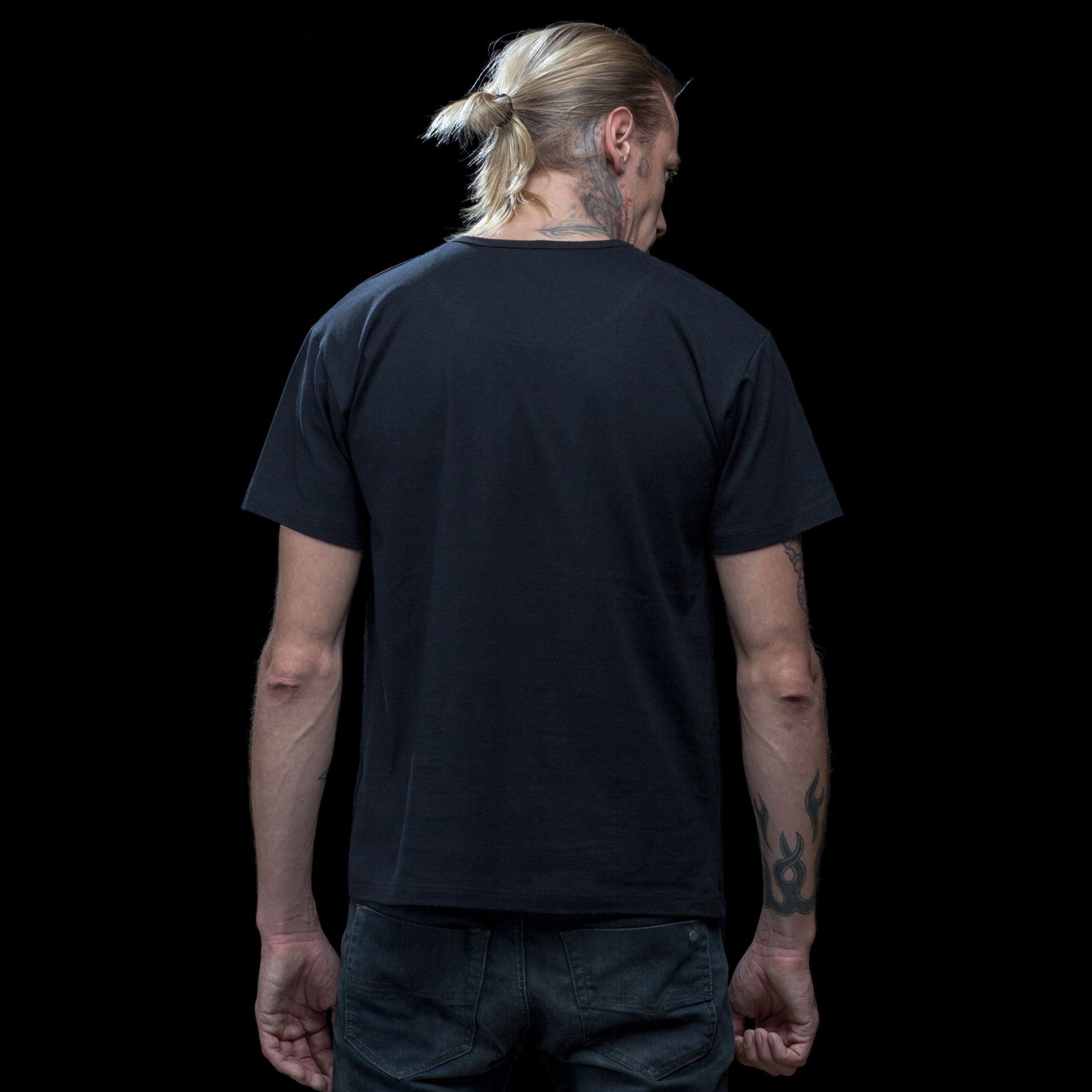 black t shirt model back - photo #15